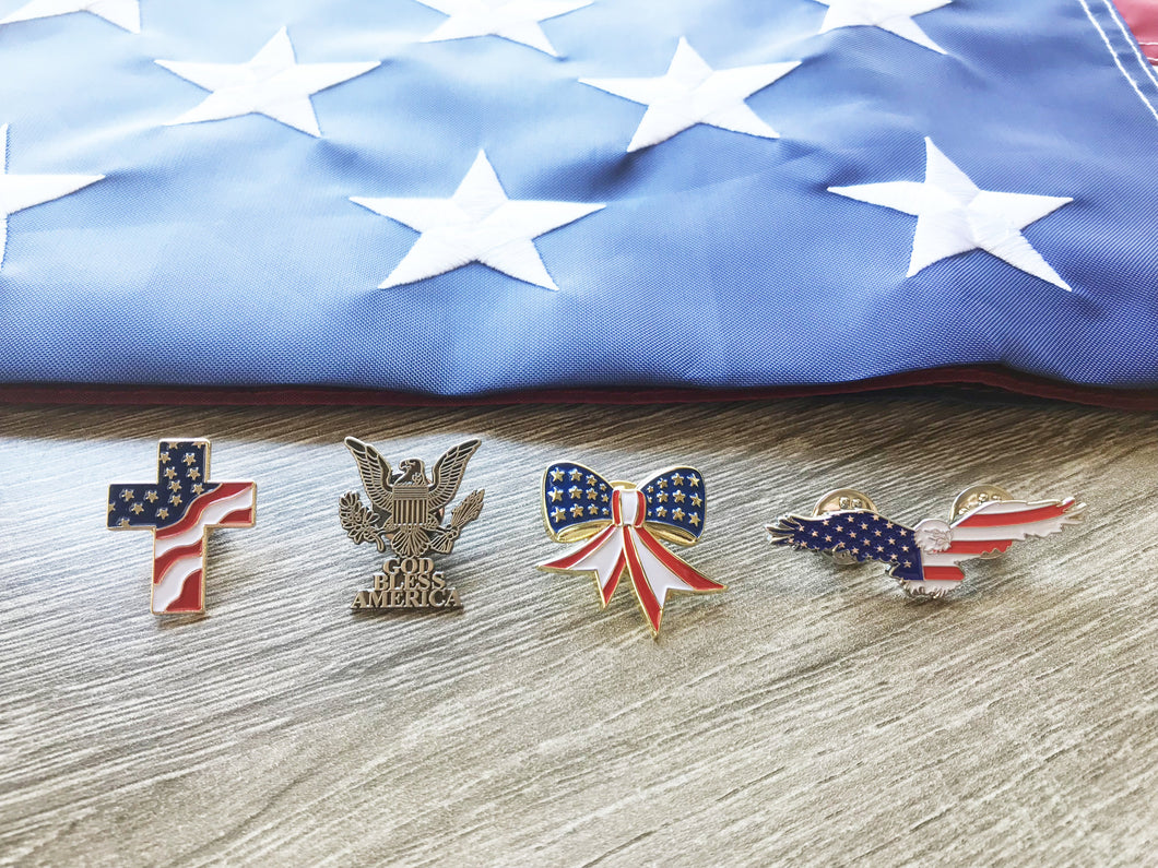 Patriotic Lapel Pin Set