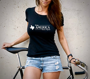 Make America Texas Again Women's Tshirt (MADE IN THE USA)