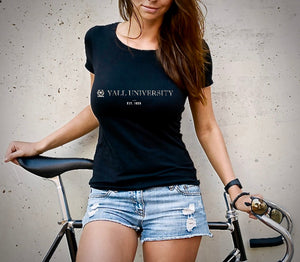 Yall University - Est. 1836 Women's Tshirt (MADE IN THE USA)