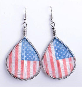 USA Woven Earrings