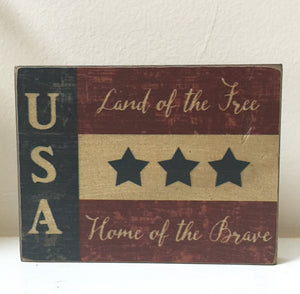 USA Home of The Brave Block