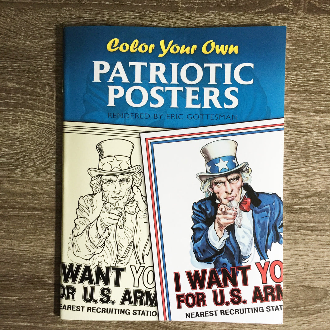 Color Your Own Patriotic Poster Coloring Book