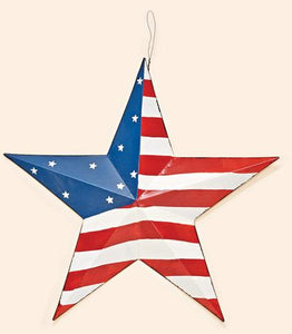 "16"" Tin American Flag Star"