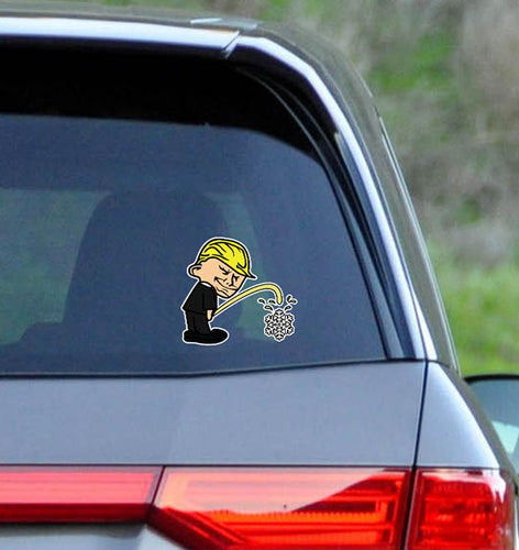 Trump Badboy vs. Snowflake Sticker (Made in the USA)