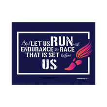 "Hebrews 12:1 Poster ""And Let Us Run With Endurance The Race That Is Set Before Us"""