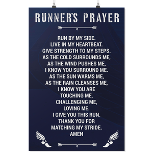 Runner's Prayer - Athlete's Prayer Poster for Runners