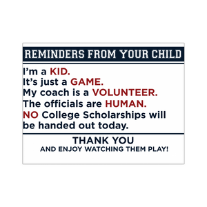 Athlete Reminders Poster