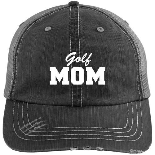 Golf Mom - Distressed Trucker Hat