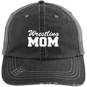 Wrestling Mom - Distressed Trucker Hat