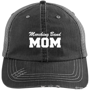 Marching Band Mom - Distressed Trucker Hat
