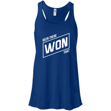 Been There Won That Womens Tri-Blend Flowy Racerback Tank