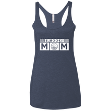 Swim Mom - Womens Tri-Blend Racerback Tank