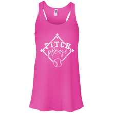 Pitch, Please - Womens Tri-Blend Flowy Racerback Tank
