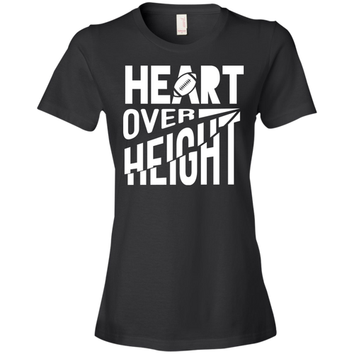 Heart Over Height (Football) -  Womens Shirt