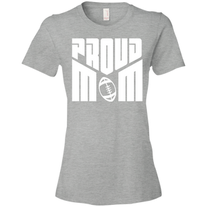 Proud Football Mom Womens Shirt