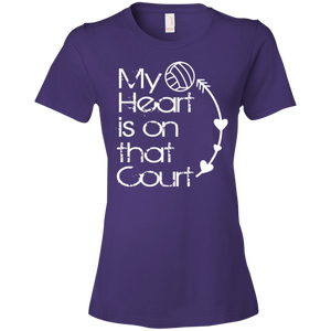 My Heart Is On That Volleyball Court - Womens Shirt