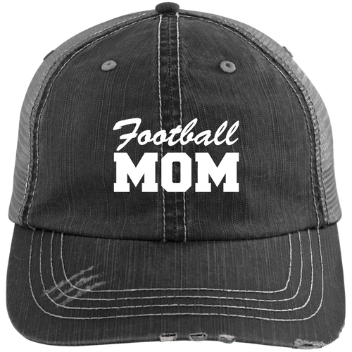 Football Mom - Distressed Trucker Hat