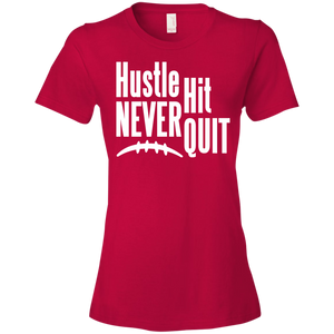 Hustle Hit Never Quit - Womens Shirt