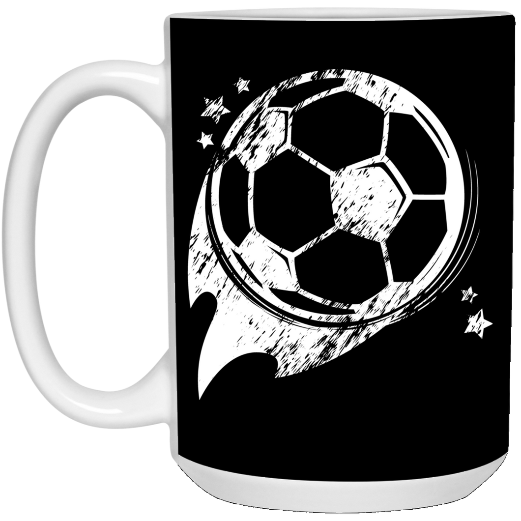 Soccer Ball - White Mug 15 ounce