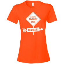 The Pavement Ends Where XC Begins Womens Shirt