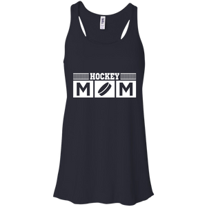 Hockey Mom Womens Tri-Blend Flowy Racerback Tank