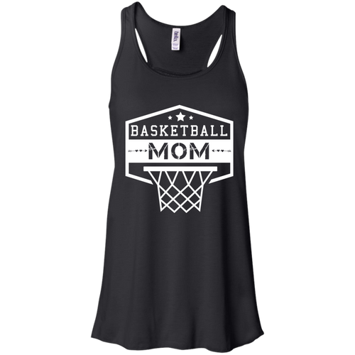 Basketball Mom Womens Tri-Blend Flowy Racerback Tank