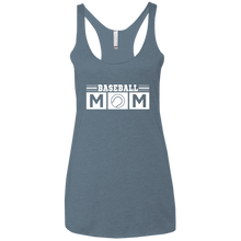 Baseball Mom - Womens Tri-Blend Racerback Tank