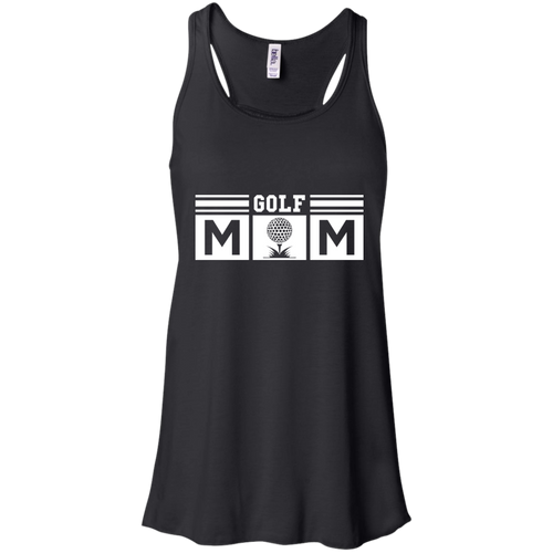 Golf Mom Womens Tri-Blend Flowy Racerback Tank