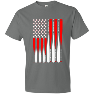 Baseballs and Bats Patriotic Flag - Unisex Shirt