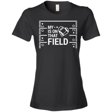 My Heart Is On That Football Field -  Womens Shirt