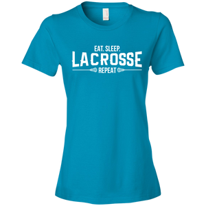 Eat. Sleep. Lacrosse. Repeat - Womens Shirt