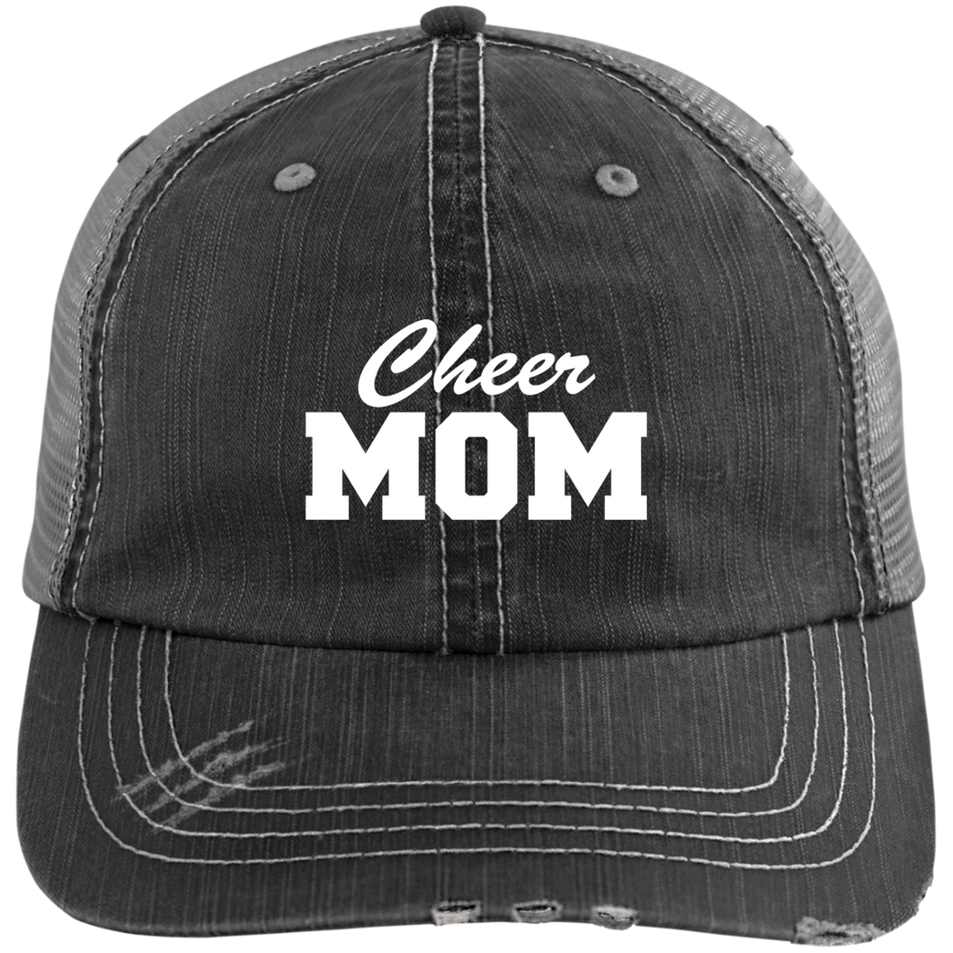 Cheer Mom - Distressed Trucker Hat