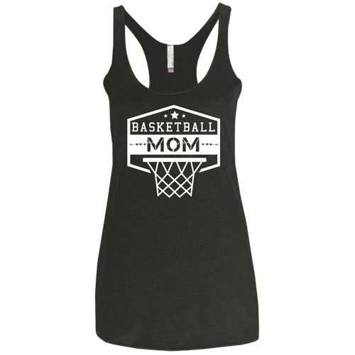 Basketball Mom - Womens Tri-Blend Racerback Tank