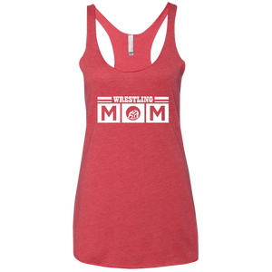 Wrestling Mom - Womens Tri-Blend Racerback Tank