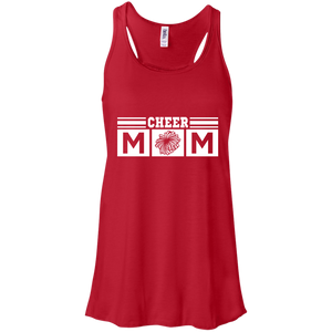 Cheer Mom Womens Tri-Blend Flowy Racerback Tank
