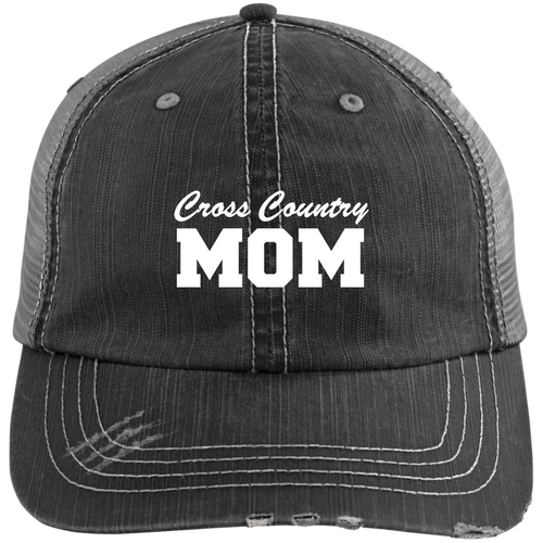 Cross Country Mom - Distressed Trucker Hat