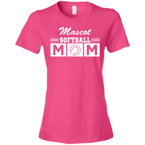 Softball Mom - Personalize - Womens Shirt