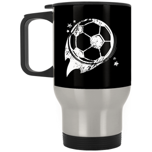 Soccer Ball - Stainless Steel Travel Mug