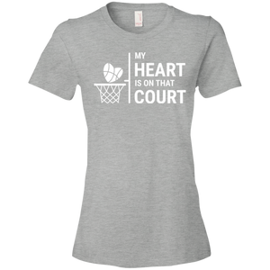 My Heart Is On That Basketball Court - Womens Shirt