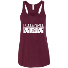 Volleyball Mom Womens Tri-Blend Flowy Racerback Tank