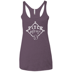 Pitch, Please - Womens Tri-Blend Racerback Tank