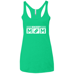 Hockey Mom - Womens Tri-Blend Racerback Tank