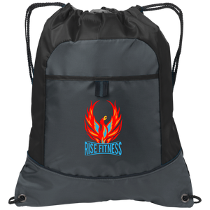Rise Fitness Logo Drawstring Bag