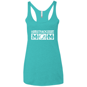 Track Mom - Womens Tri-Blend Racerback Tank
