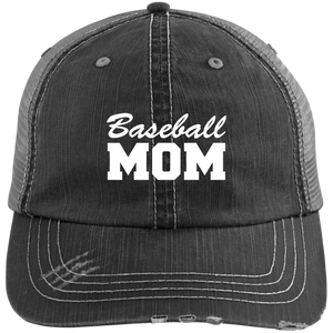 Baseball Mom - Distressed Trucker Hat