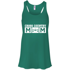 Cross Country Mom Womens Tri-Blend Flowy Racerback Tank