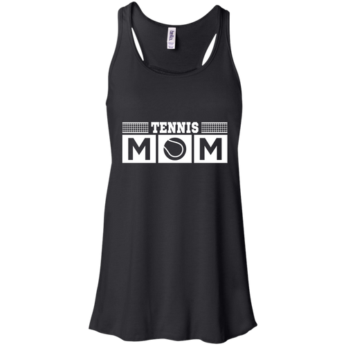 Tennis Mom Womens Tri-Blend Flowy Racerback Tank