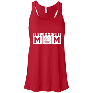 Swim Mom Womens Tri-Blend Flowy Racerback Tank