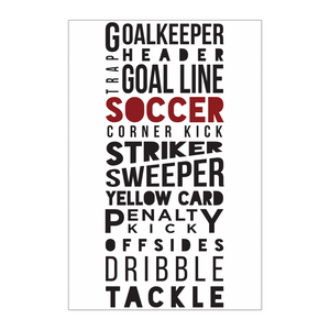 Soccer Player Phrases Poster