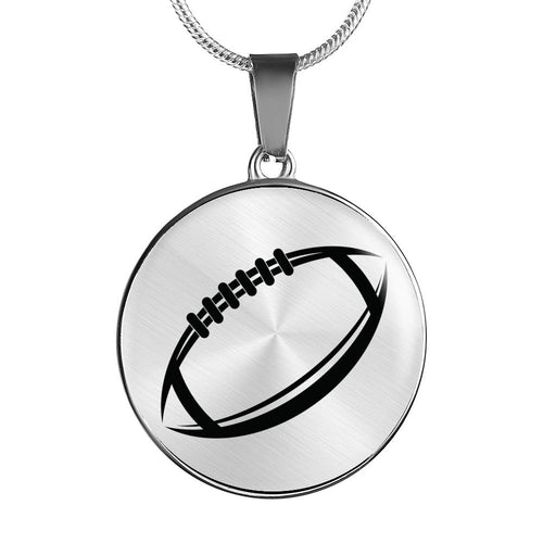 Football Mom Personalized Engraved Jewelry - Bangle Bracelet or Necklace